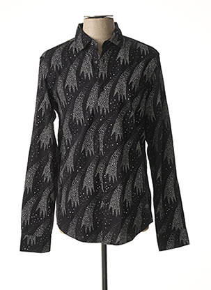 Chemise manches longues noir SCOTCH & SODA pour homme