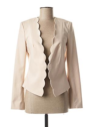 Veste chic / Blazer beige COMMA, pour femme