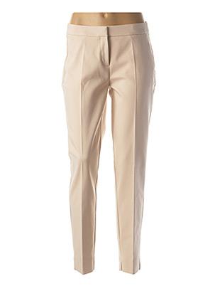 Pantalon casual beige COMMA, pour femme