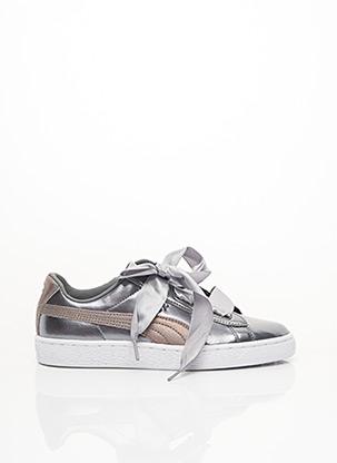 Baskets gris PUMA pour fille