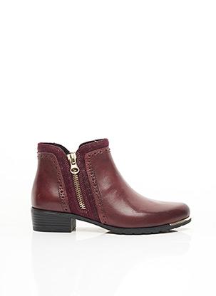 Bottines/Boots rouge CAPRICE pour femme