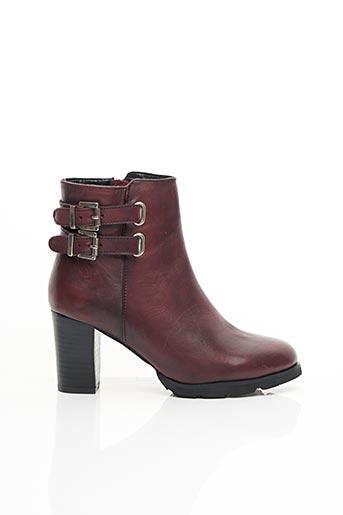 Bottines/Boots rouge ELUE PAR NOUS pour femme