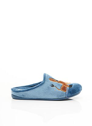 Chaussons/Pantoufles bleu CM CONFORT pour femme