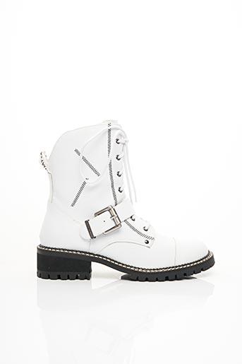 Bottines/Boots blanc CHATTAWAK pour femme