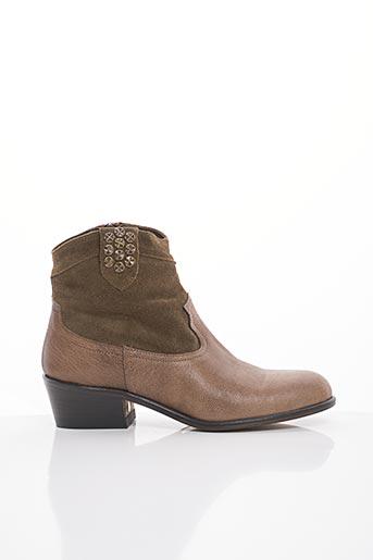 Bottines/Boots beige BLU VELVET pour femme