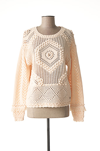 Pull col rond rose CREAM pour femme