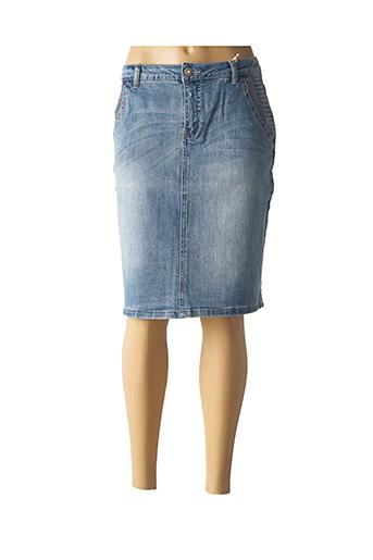Jupe mi-longue bleu CREAM pour femme