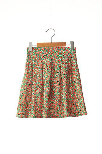 Jupe mi-longue vert MINI MOLLY pour fille