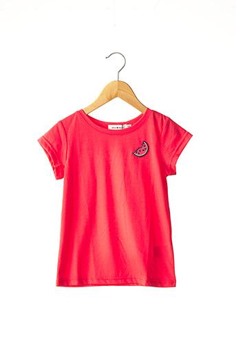 T-shirt manches courtes rouge MINI MOLLY pour fille