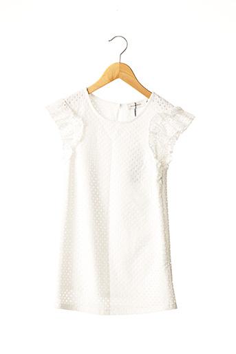 Robe mi-longue blanc MINI MOLLY pour fille