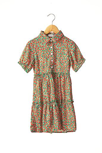 Robe mi-longue vert MINI MOLLY pour fille