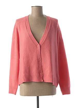 Gilet manches longues rose STREET ONE pour femme