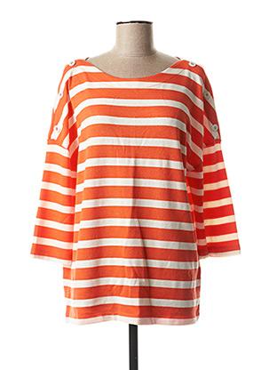Pull col rond orange CECIL pour femme