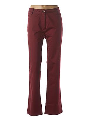 Pantalon casual rouge JAC JAC pour femme
