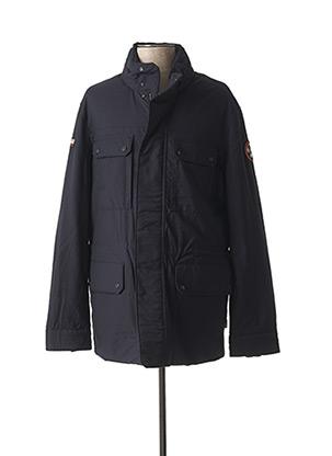 Manteau long bleu NAPAPIJRI pour homme