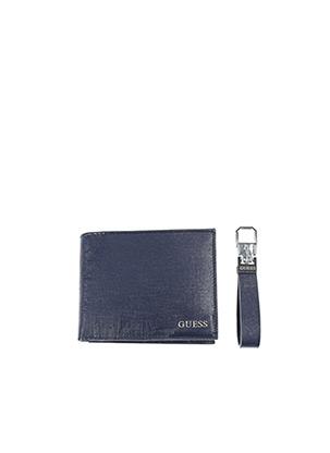 Portefeuille bleu GUESS pour homme