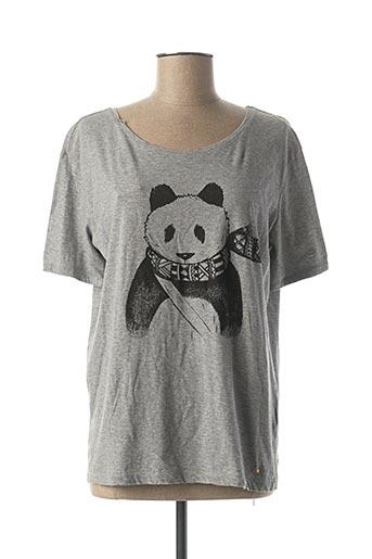 T-shirt manches courtes gris DES PETITS HAUTS pour femme