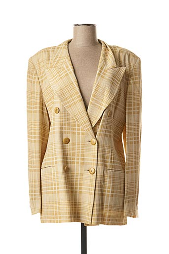 Veste chic / Blazer jaune ELECTRE pour femme