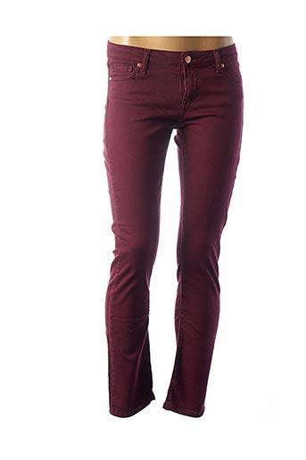 Pantalon casual rouge DES PETITS HAUTS pour femme