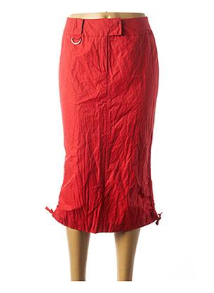 Jupe mi-longue rouge AIRFIELD pour femme