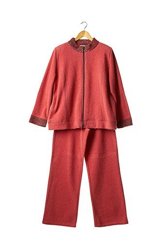 Pyjama rouge EGATEX pour femme
