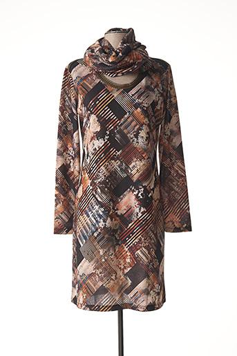 Robe mi-longue marron LO! LES FILLES pour femme