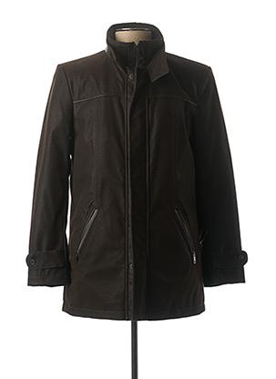 Manteau court marron MASSIMO BONI pour homme