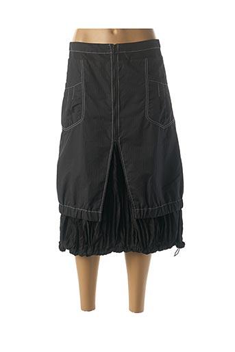 Jupe mi-longue noir L33 pour femme