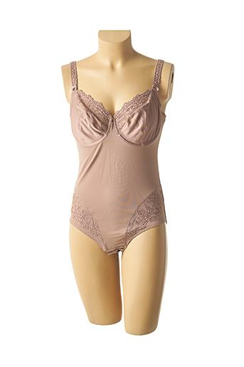 Body lingerie marron ROSA FAIA pour femme
