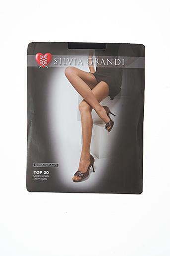 Collants noir SILVIA GRANDI pour femme