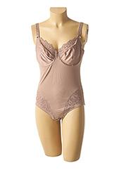 Body lingerie marron ROSA FAIA pour femme seconde vue
