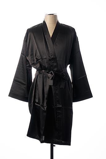 Robe de chambre noir CHANGE pour femme