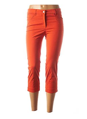 Pantacourt décontracté orange COUTURIST pour femme