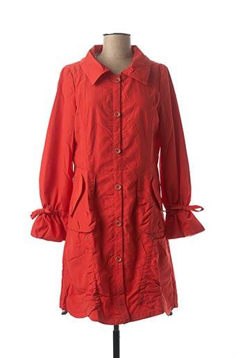 Manteau long orange VIRGINIE & MOI pour femme