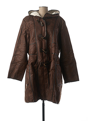 Manteau long marron L33 pour femme