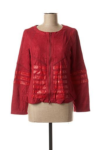 Veste casual rouge VIRGINIE & MOI pour femme