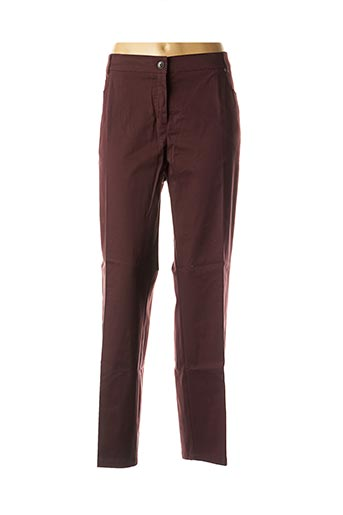 Pantalon chic rouge ADELINA BY SCHEITER pour femme