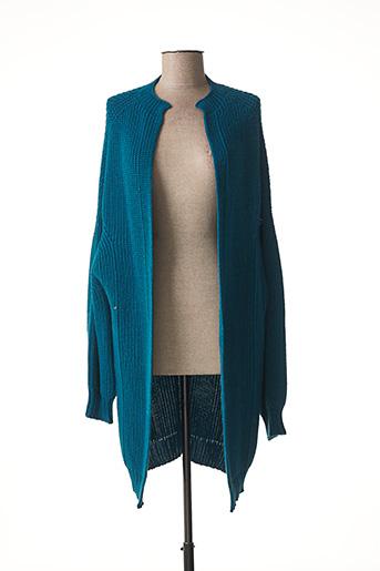 Gilet manches longues bleu COP COPINE pour femme