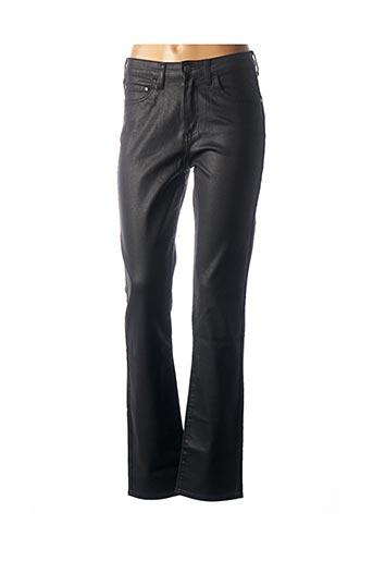 Jeans coupe droite noir KANOPE pour femme