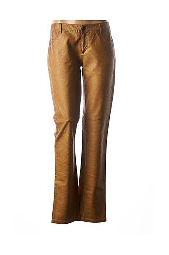Pantalon casual marron CHIPIE pour femme