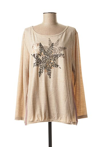 Pull col rond beige AIRFIELD pour femme