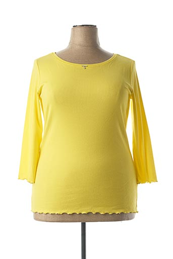 Pull col rond jaune AIRFIELD pour femme