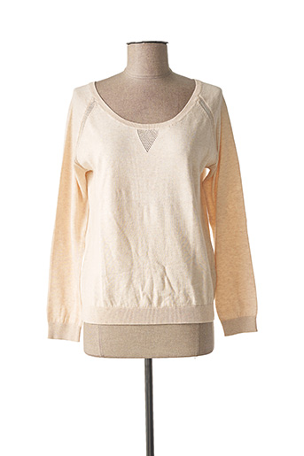 Pull col rond beige LES ESSENTIELS BY MARIE SIXTINE pour femme