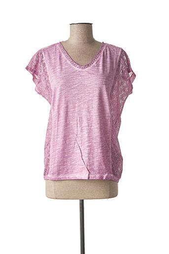 T-shirt manches courtes violet SANDWICH pour femme