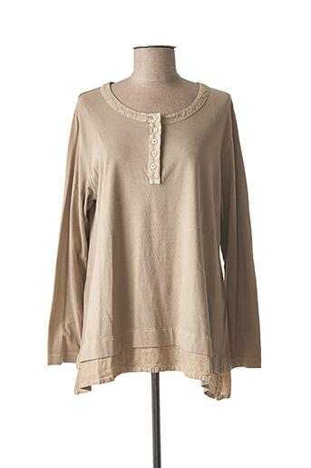 T-shirt manches longues beige ELEMENTE CLEMENTE pour femme
