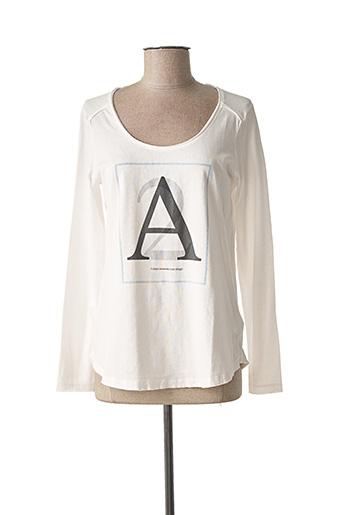 T-shirt manches longues blanc SANDWICH pour femme