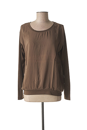 T-shirt manches longues marron SANDWICH pour femme