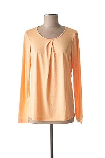 T-shirt manches longues orange SANDWICH pour femme