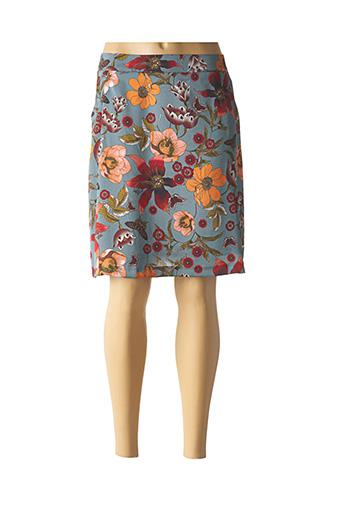 Jupe mi-longue bleu VOODOO pour femme