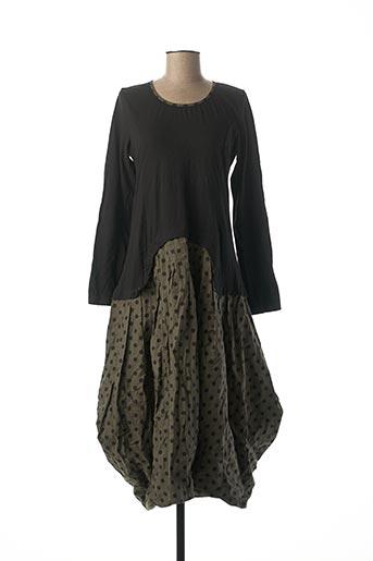 Robe longue vert RHUM RAISIN pour femme